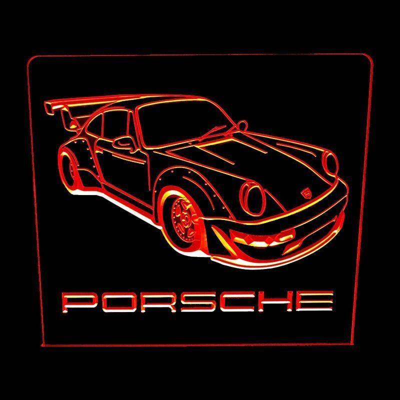 Porsche 1 red - Acrylic Led
