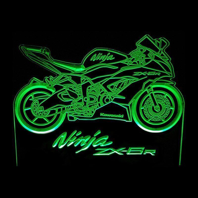 Ninja ZX-6R green - Acrylic Led