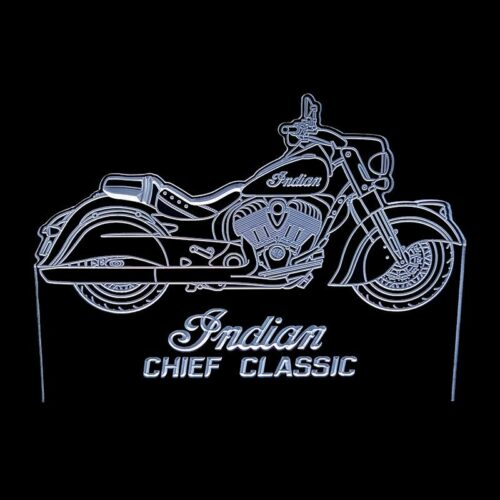 Indian Chief Classic white - Acrylic Led