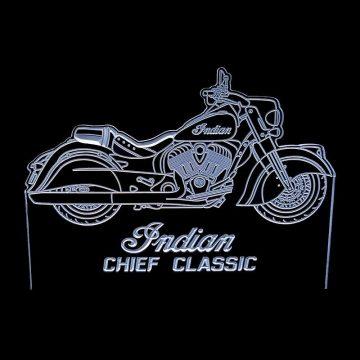 Indian Chief Classic white - Acrylic Led